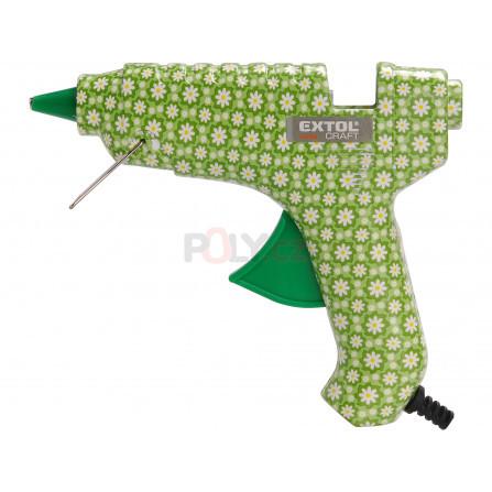 Pistole tavná lepící, květinová, ∅11mm, 40W, EXTOL 422100