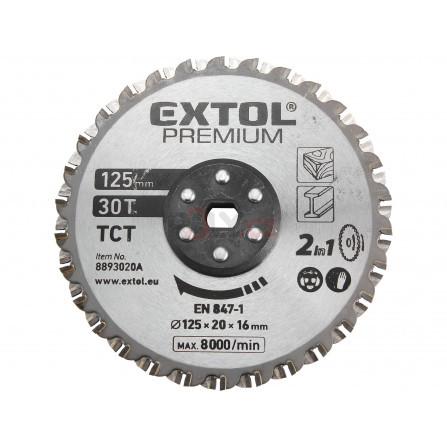 Kotouč řezný, na kov a dřevo, 125x20x16mm, 30T, EXTOL 8893020A