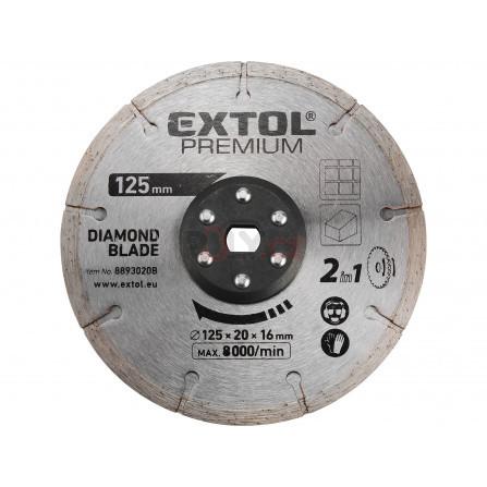 Kotouc řezný, diamantový, 125x20mm, EXTOL 8893020B