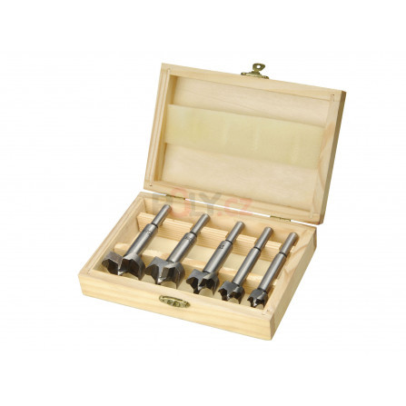 Frézy-sukovníky, do dřeva, sada 5ks, ∅15-20-25-30-35mm, EXTOL 44015