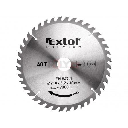 Kotouč pilový s SK plátky, 125x1,4x22,2mm, 40T, EXTOL 8803207