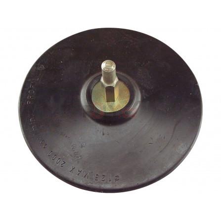 Nosič brusných výseků, do vrtačky - suchý zip, ∅125mm, stopka 8mm, EXTOL 108400