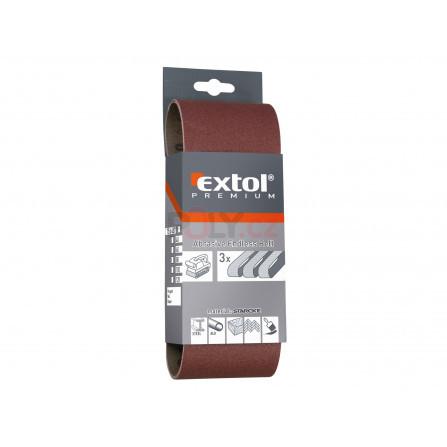 Plátna brusná nekonečný pás, bal. 3ks, 75x533mm, P40, EXTOL 8803524