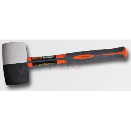 Palička gum. bílá/černá sklolam. 65mm (PC2523), RICHMANN