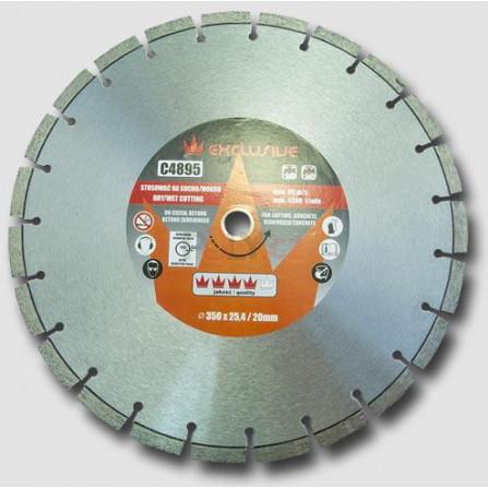 Diamantový kotouč na beton 350x25,4 mm, výška segmentu 10 mm, RICHMANN