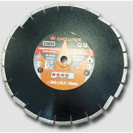 Diamantový kotouč na asfalt 350x25,4 mm, výška segmentů 10 mm, RICHMANN