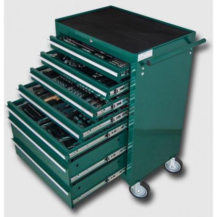 Montážní vozík na nářadí kovový vybavený 215dílů  680x458x860mm, HONITON HA230