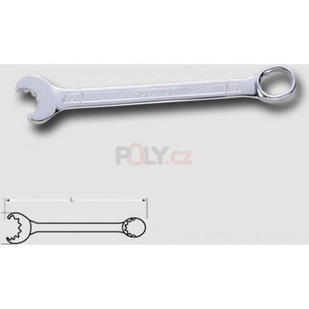 Klíč řáčnový pevný 12-ti hranný, matný 17mm, HONITON HDCW1517E