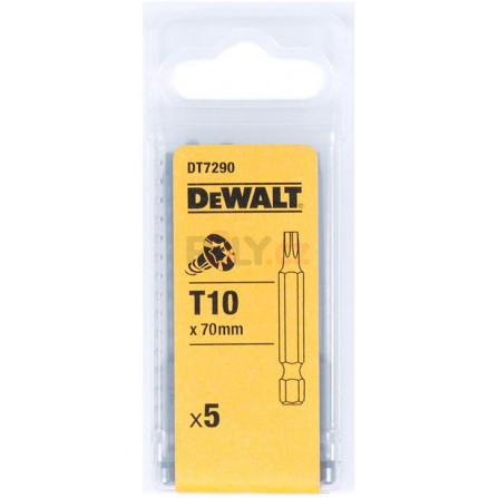 Bity Torsion 70 mm Torx T10 - 5 ks, DeWALT DT7290-QZ