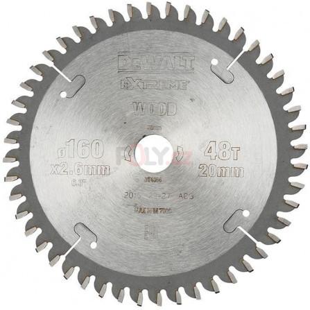 Pilový kotouč 160 × 20 mm, 48 zubů, TCG -5°, dýha, laminát, hliník, DeWALT DT4084-QZ