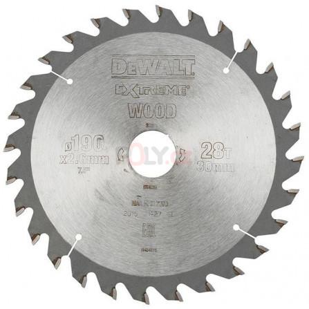 Pilový kotouč 190 × 30 mm, 28 zubů, ATB 10°, univerzální řez, DeWALT DT4033-QZ