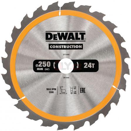 Pilový kotouč 250 × 30 mm, 24 zubů, ATB 10°, rychlý podélný řez, DeWALT DT1956-QZ