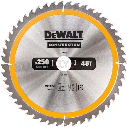 Pilový kotouč 250 × 30 mm, 48 zubů, ATB 10°, univerzální řez, DeWALT DT1957-QZ