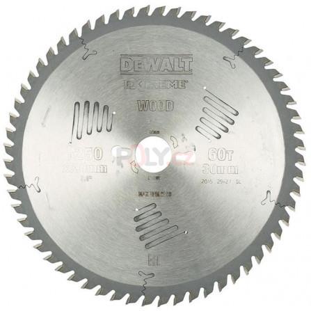 Pilový kotouč 250 × 30 mm, 60 zubů, ATB 10°, jemný řez, DeWALT DT4351-QZ