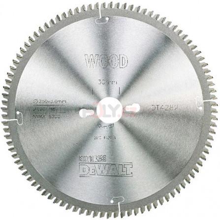 Pilový kotouč 250 × 30 mm, 96 zubů, TCG -5°, dýha, laminát, hliník, DeWALT DT4282-QZ