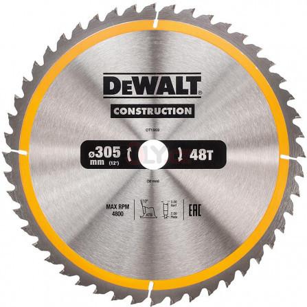 Pilový kotouč 305 × 30 mm, 48 zubů, ATB 10°, univerzální řez, DeWALT DT1959-QZ