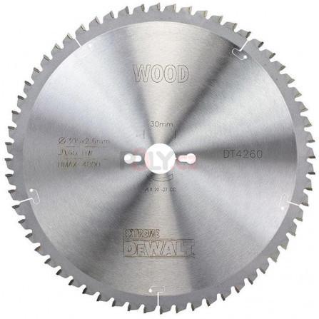 Pilový kotouč 305 × 30 mm, 60 zubů, ATB -5°, jemný řez - EXTREME, DeWALT DT4260-QZ
