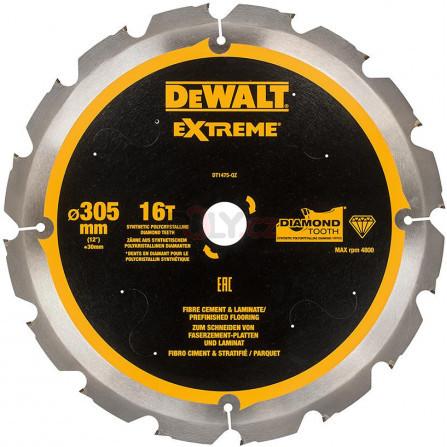 Pilový kotouč 305 x 30, 16 zubů, 120 pro celovláknité desky a laminát, DeWALT DT1475-QZ