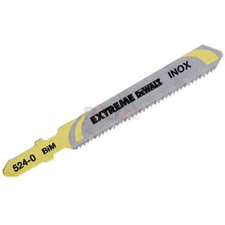 Pilové plátky pro přímočarou pilu pisté přímé řezy v laminátech do tloušťky 15 mm, 5 ks, 82 mm (T101BIF), DeWALT DT2080-QZ