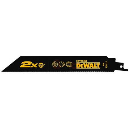 Pilové plátky pro mečovou pilu rychlé řezání kovů, armatur, trubek, profilů atd. 5 ks, 305 mm střídavý zub, DeWALT DT2409L-QZ