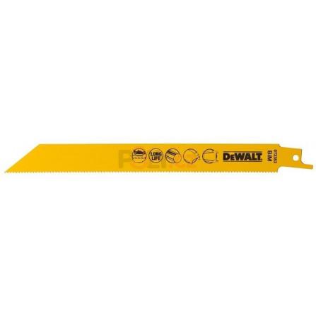 Pilové plátky pro mečovou pilu na kovy, plechy, trubky a profily do 6 mm - 100 ks, 203 mm (S1022BF), DeWALT DT2323-QZ