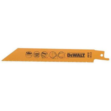 Pilové plátky pro mečovou pilu na kovy, plechy, trubky a profily od 3 do 8 mm - 5 ks, 152 mm (S922BF), DeWALT DT2361-QZ