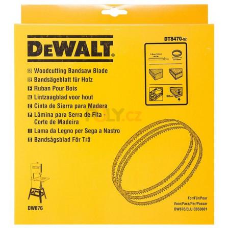 Pilový pás na dřevo - vyřezávací list, šířka 10 mm pro DW876, DeWALT DT8483-QZ