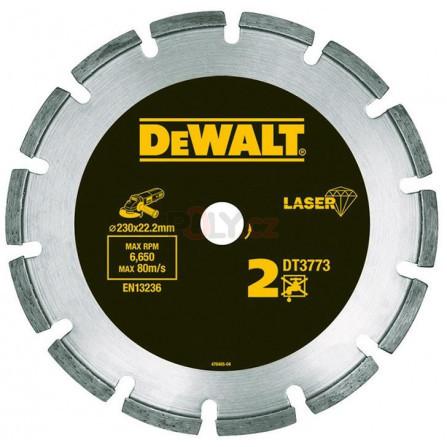Diamantový kotouč 230 × 22,2 mm LASER 2: abrazivní materiály, beton, DeWALT DT3773-XJ