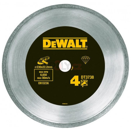 Diamantový kotouč 230 × 22,2 mm LASER 4: dlažby, obklady, DeWALT DT3738-XJ