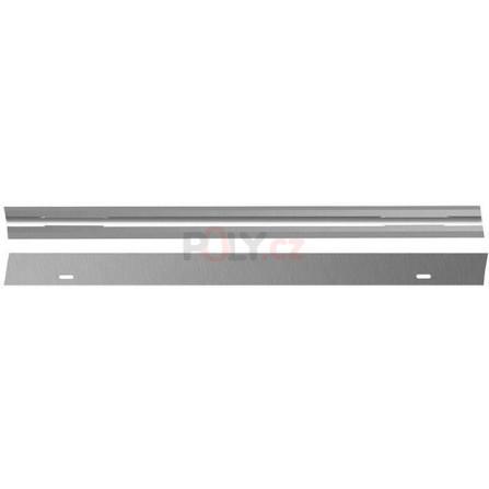 1 dvojice hoblovacích nožů s oboustranným ostřím z oceli HSS pro DW680, DW680K, D26500, D26500K, D26501K, DeWALT DT3905-QZ