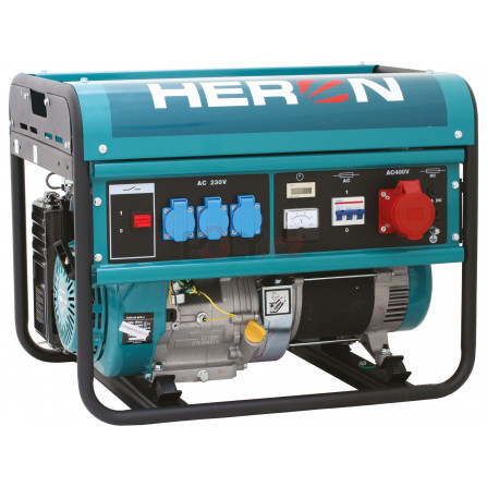 Elektrocentrála benzínová 13HP/6,0kW (400V) 2,2kW (230V), HERON 8896112, EGM 60 AVR-3