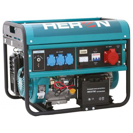 Elektrocentrála benzínová 13HP/6,0kW (400V) 2,2kW (230V), elektrický start, HERON 8896114, EGM 60 AVR-3E
