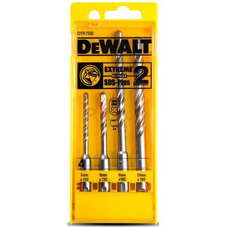 4 dílná sada vrtáků do betonu SDS Plus Extreme 5,6,8,10, DeWALT DT9700-QZ