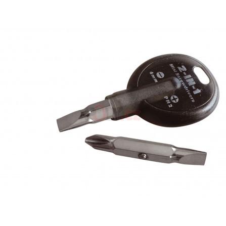 Šroubovák klíčenka, (-) 6mm, PH 2, EXTOL 8819700