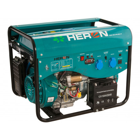 Elektrocentrála benzínová a plynová (LGP/NG) 13HP/5,5kW, elektrický start, HERON 8896318, LPGG 50