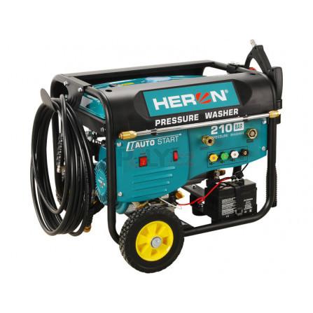 Vysokotlaký motorový čistič s dálkovým ovládáním, el. startem, samonasáváním vody a šamponovačem, 210bar, HERON 8896350, HPW 210