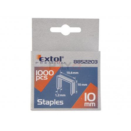 Spony, balení 1000ks, 10mm, 10,6x0,52x1,2mm, EXTOL 8852203