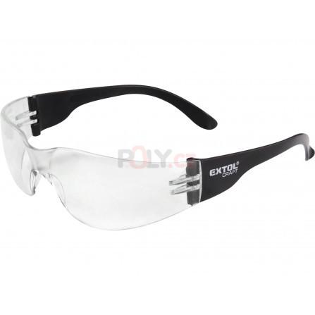 Brýle ochranné, čiré, s UV filtrem, EXTOL 97321