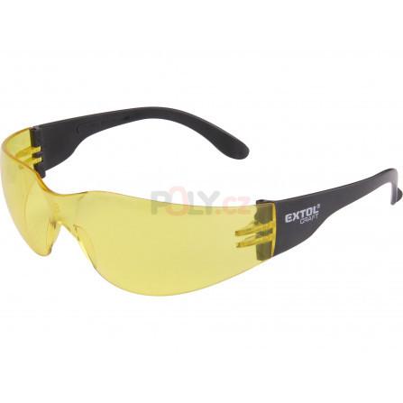 Brýle ochranné, žluté, s UV filtrem, EXTOL 97323
