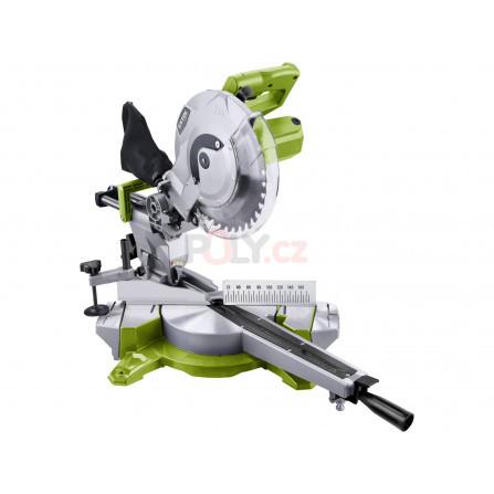 Pila pokosová s pojezdem, laserem a světlem, 250mm, 1800W, EXTOL 405425