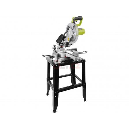 Pila pokosová a kapovací s laserem a posuvným ramenem, 255mm, 1800W, EXTOL 405441